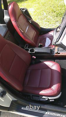1996-2002 BMW Z3 Replacement Leather Seat Covers Maroon/Burgundy