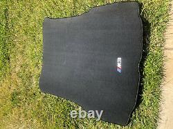 2001-2006 BMW E46 M3 Embroidered Carpet Luggage Trunk Mat Genuine 330Ci 325Ci