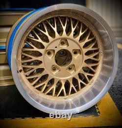 4 Genuine Aluline Deep Dish Alloy Wheels BMW 5x120 BBS OZ E24 E28 E32 E30