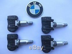 4 x GENUINE OEM BMW 6855539 Tire Pressure TPMS X3 X5 X6 MINI F20 F21 F22 F30