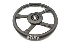 ALPINA BMW by MOMO Steering Wheel 4 Spokes Black Leather 380mm witho HUB Genuine