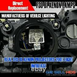 Aftermarket BMW F30 Bi xenon Headlamps same as oem Genuine angel eyes LED