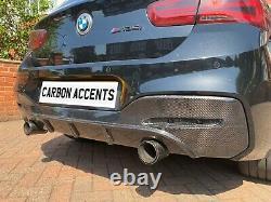 BMW 1 Series Real Carbon Fibre Fiber Rear Diffuser Bumper F20 F21 M135i M140i