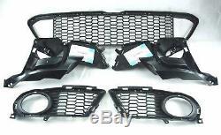 BMW 3 Series E92 E93 LCI 2011-2013 Front M Sport Bumper Grills 5pcs SET GENUINE