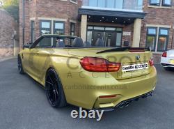BMW 4 Series F33 F83 Real Carbon Fibre Fiber High Kick PSM Style Spoiler M4 F83