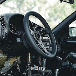 BMW E30 M3 VIILANTE MODENA 350mm STEERING WHEEL GENUINE LEATHER BLACK STITCH