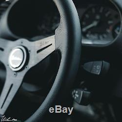 BMW E36 M3 VIILANTE MODENA 350mm STEERING WHEEL GENUINE LEATHER BLACK STITCH