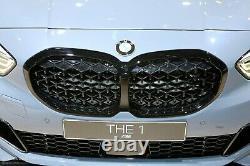 BMW Genuine 1 Series F40 M135i Diamond Pattern Shadowline Black Grill 8080490