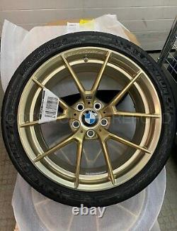 BMW Genuine 763M M3 M4 F80 Wheel & Tyre Set Gold M Performance 36112459540