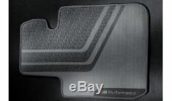 BMW Genuine M Performance Floor Mats Front Set Black 4 Series 51472407306