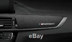 BMW Genuine M Performance Interior Trim Finishers Carbon Alcantara 51952454350