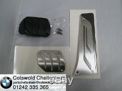 BMW Genuine M Performance Stainless Steel Pedal Cover Set 35002232278