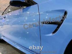 BMW M3 F80 M4 F82 F83 Genuine Real Carbon Fibre Fender Vents Cover Trim OEM-Fit