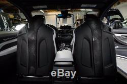 BMW M3/M4 F80 F82 Real Carbon Fiber Seat Back Cover Add-on