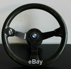 BMW Steering Wheel REAL CARBON FIBER 100% Deep Dish E32 E34 E36 Z3 1992-1998