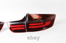 BMW X6 E71 E72 08 14 Genuine Black Line LED Tail Light Real Lamp Full SET OEM