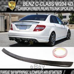 Benz C-Class W204 4D 08-14 Rear Trunk Boot Spoiler Wing Real Carbon Fiber CF Lid