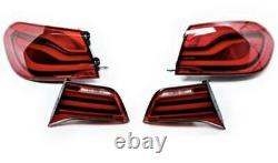 Bmw F32 F33 F36 F83 LCI Led Rear Euro Tail Lights Retrofit Black Line Genuine