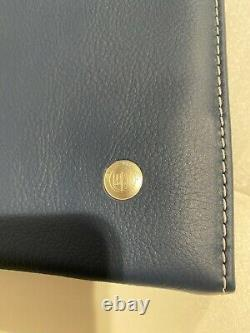 Bmw Genuine Alpina Blue Lavalina Leather Logbook Handbook Wallet Case 7600277