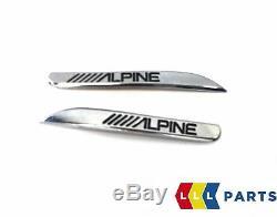 Bmw Genuine New 1 F20 Front Door Speaker Tweeter Cover Pair Left Right Alpine