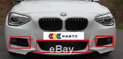 Bmw New Genuine 1 F20 F21 12-15 Front M Sport Bumper Lower Grill Set Of Three