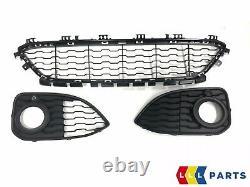 Bmw New Genuine 1 F20 F21 15-16 Front M Sport Bumper Lower Grill Set Of Three