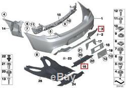 Bmw New Genuine 6 Series F06 F12 F13 M6 Rear Bumper Diffuser With Guide Set