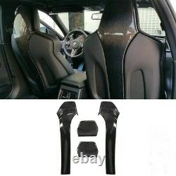 Carbon Fibre Seat Back Covers for BMW F80 M3 F82 F83 M4 Real Carbon