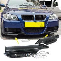 Carbon Flaps Bumper For Bmw E90 E91 05-08 Series 3 M-technik Body Kit Spoiler