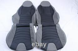 Custom Made BMW Z3 Real Leather Seat Covers for M Sport seats Black and Grey