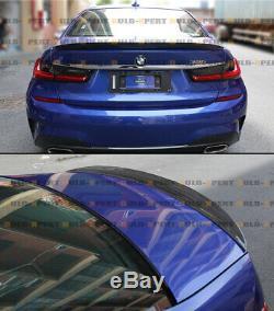 FOR 19-2020 BMW 330i M340i G20 HIGHKICK VIP REAL CARBON FIBER TRUNK SPOILER WING