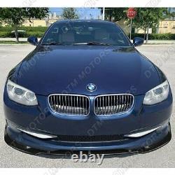 For 2011-2013 BMW 3-Series 2DR E92 E93 Real Carbon Fiber Front Bumper Body Lip