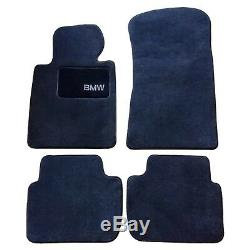 For 325i 325ci 330i 330ci E46 3-Series Genuine Carpeted Floor Mat Set Black