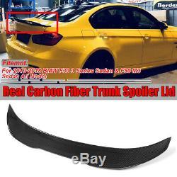 For BMW 13-18 F30 330i 335i F80 M3 REAL Carbon Fiber HighKick PSM Trunk Spoiler