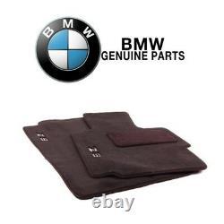 For BMW E36 Z3 96-02 Set of 2 Front Carpet Floor Mats Black Genuine 82111470158