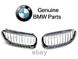 For BMW E63 E64 645Ci M6 Pair Set of Front Left & Right Chrome Grille Genuine