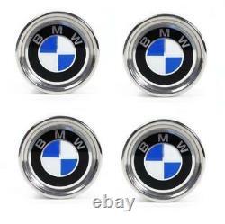 GENUINE BMW E10 E21 E30 3-Series Set of 4 Wheel Center Caps with Emblem 1114180