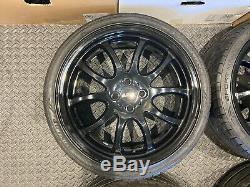 Genuine 18 Jcw Mini Cooper Alloy Wheels Black Bmw Mini R105 Rims Gp R50 R53 R56