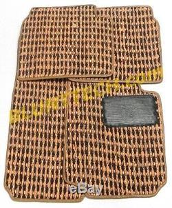Genuine BMW 2002 E10 Coco Floor Mat Set Brown/Tan