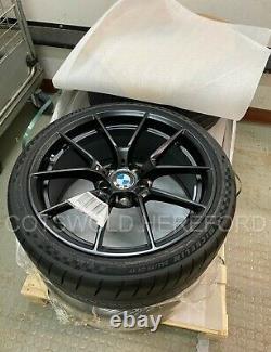 Genuine BMW F87 M2 19 763M Black M Performance Wheel and Tyre Set 36115A23270