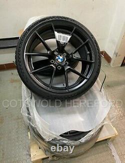 Genuine BMW F87 M2 19 763M Black M Performance Wheel and Tyre Set 36115A3DE45