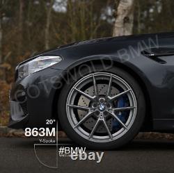 Genuine BMW F90 M5 F92 M8 M Performance Grey 863M Wheels & Tyres 36110077826