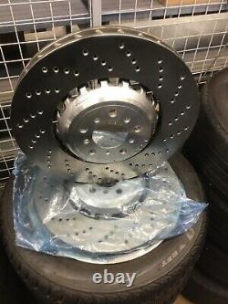 Genuine BMW Front Brake Discs Set M5-F10 /M6-F06, F12, F13 PN34112284101/2 UK