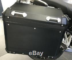 Genuine BMW R1200GS Adventure LC Black Aluminium Panniers with codeable locks