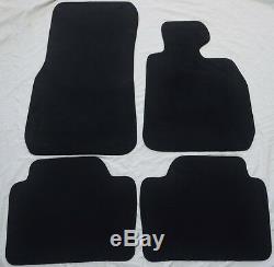 Genuine Bmw 3 Series F30 F31 2013-2018 Velour Carpet Mats Mat Set Black New
