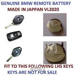 Genuine Bmw Remote Key Battery Panasonic Vl2020 Made In Jappan