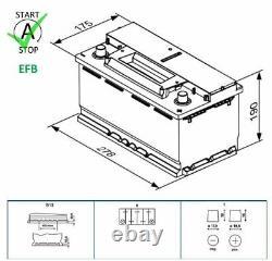 Genuine Bosch EFB Car Battery 0092S4E081 S4E08 Type 096 70Ah 760CCA Quality