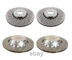 Genuine Front Rear Drilled Vented Disc Brake Rotors Kit for BMW F85 F86 X5 X6 M