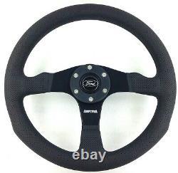 Genuine Momo Competition 350mm steering wheel. Ford horn. Escort Fiesta RS etc