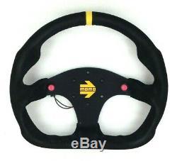 Genuine Momo Model Mod. 30 black suede steering wheel 320mm. Track race rally etc